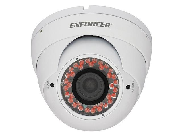SECO-LARM Enforcer 24 IR 3.6mm Lens Day/Night Ball-Mount Color Dome Camera, Gray