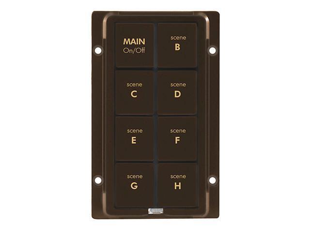 8-Button Change Kit for KeypadLinc, Brown