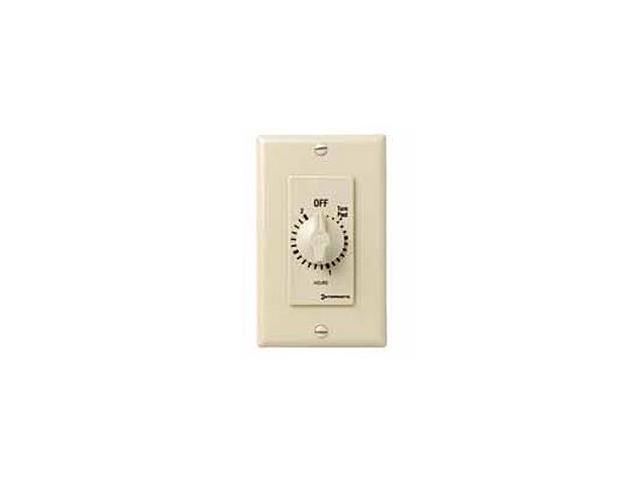 Intermatic FD34H 4-hour Spring Wound Wall Switch Timer SPDT, Ivory
