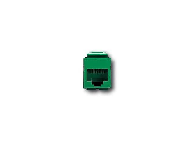 Leviton 41108-RV5 QuickPort Snap-In Cat. 5 Jack, Green