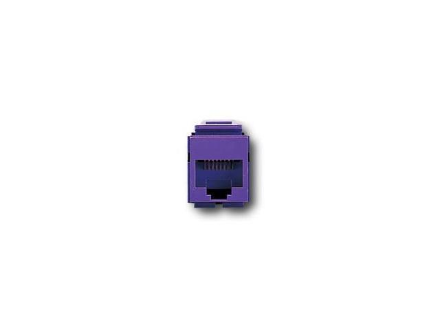 Leviton 41108-RP5 QuickPort Snap-In Cat. 5 Jack, Purple