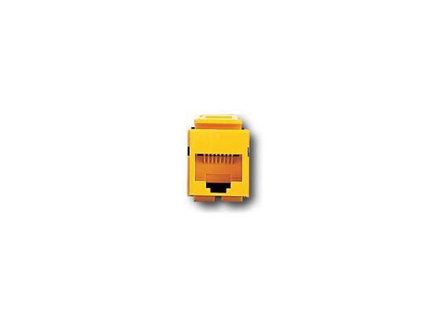 Leviton 41108-RY5 QuickPort Snap-In Cat. 5 Jack, Yellow