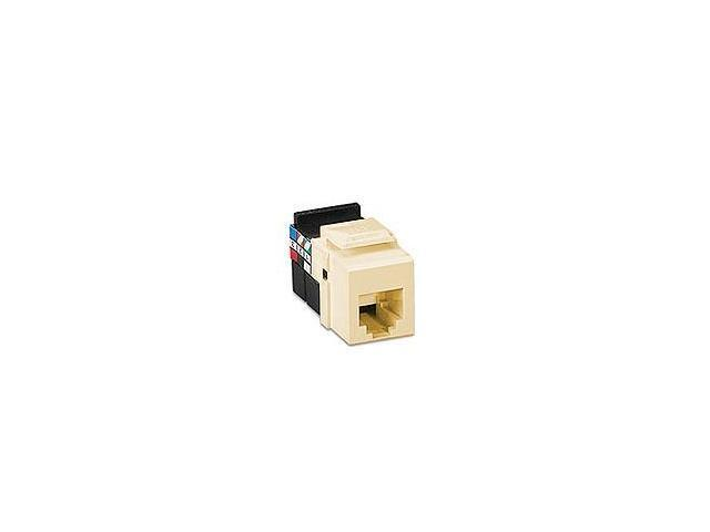 Leviton 41106-RI6 Voice Grade QuickPort Snap-In Connector, 6P6C, Ivory