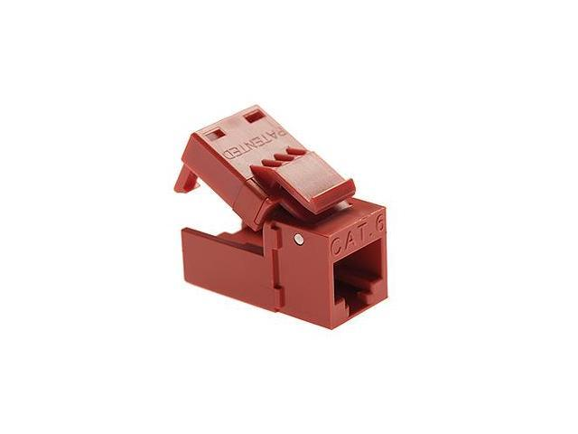 Platinum Tools 706RD-1 EZ-SnapJack Cat.6 Connector - Red
