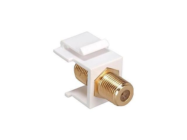 Cooper Wiring Devices 5552-5ELA F-Series Coax Connector, Light Almond
