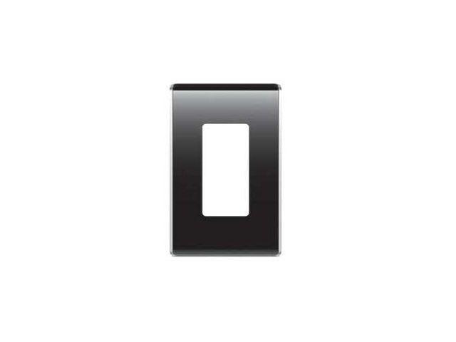 OnQ legrand WP5001-GB 1-Gang Studio Wall Plate, Black