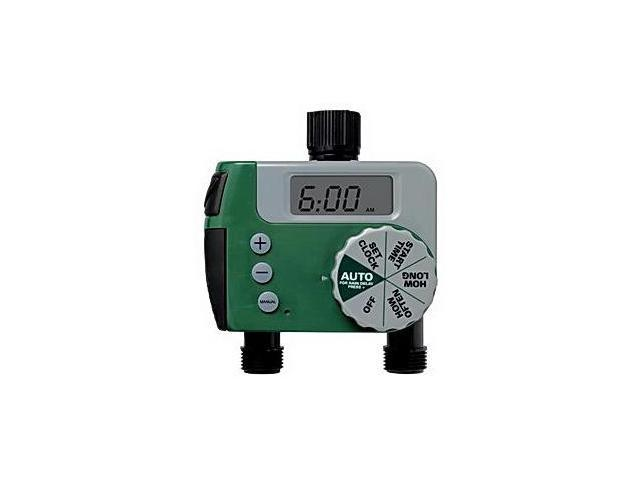 Orbit 62062N SunMate 1-Dial 2-Port Digital Hose Faucet Timer ...