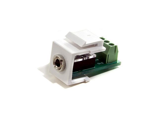 Channel Vision G-IRB-W 1 Jack, 3.5mm IR Wallplate Insert, White