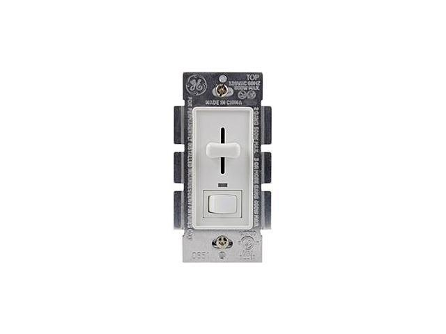 GE 18027 Toggle-Style On/Off with Slide Lighted Dimmer