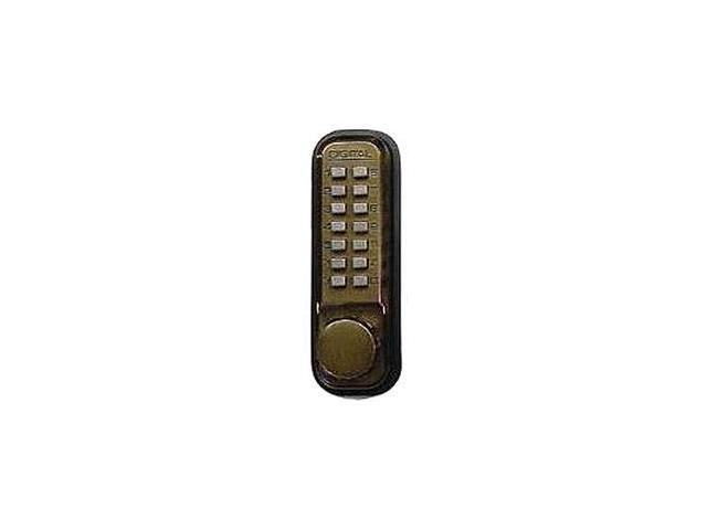 Lockey Systems M220AB Keyless Machanical Digital Deadbolt Door Lock - Antique Br