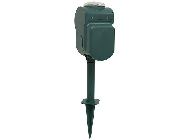 GE 15107 6-Outlet Grounded Yard Stake with Timer