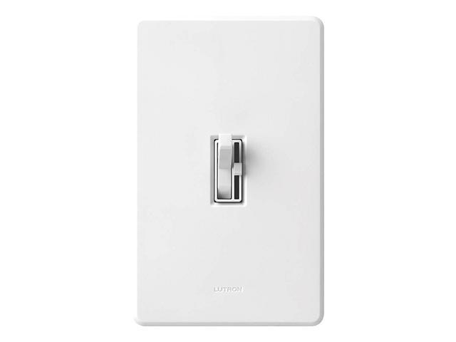 Lutron TGCL-153PH-WH Ariadni CFL/LED Toggler Dimmer, White
