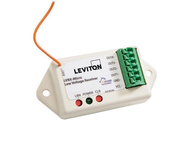 Leviton WS0RC-300 LevNet RF 3-Channel Remote Room Controller, 1-Input /3-Outputs