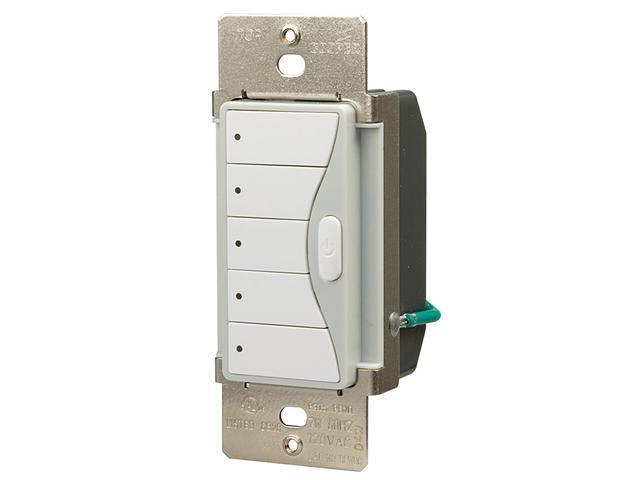 Cooper Wiring Devices RFWC5SG ASPIRE RF 5-Button Scene Control Keypad, Silver Gr