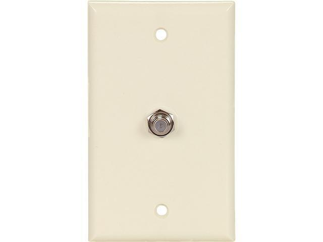 Cooper Wiring Devices 1172A COAX Jack with Wallplate, Almond