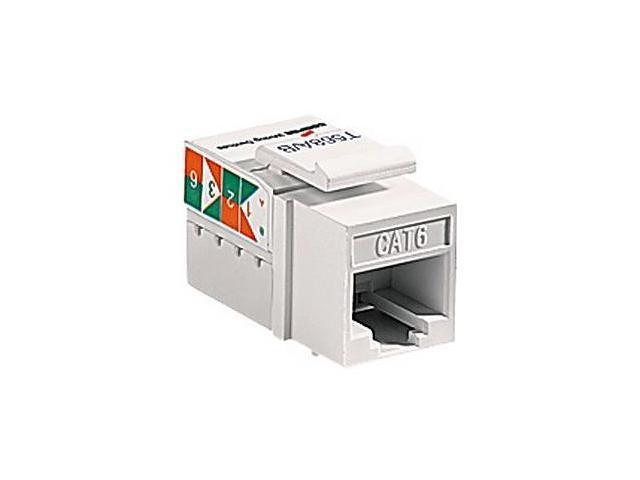 Cooper Wiring Devices 5546-6LA Cat 6 RJ45 Modular Data Jack Insert, Light Almond
