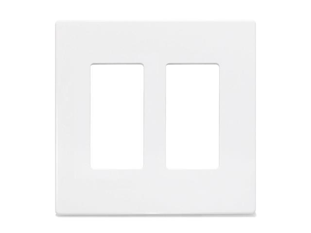 insteon screwless wall plate double gang white 2422 232. Black Bedroom Furniture Sets. Home Design Ideas