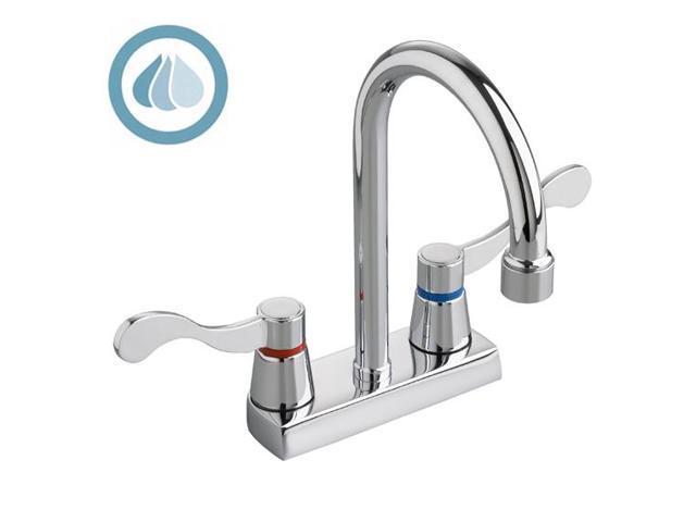 heritage centerset gooseneck lavatory faucet polished chrome