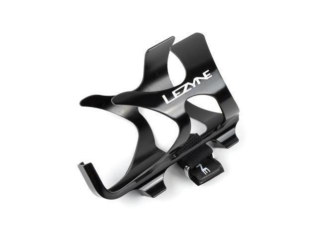 Lezyne Alloy Bicycle Water Bottle Cage w/Pump Strap (Gloss Black)
