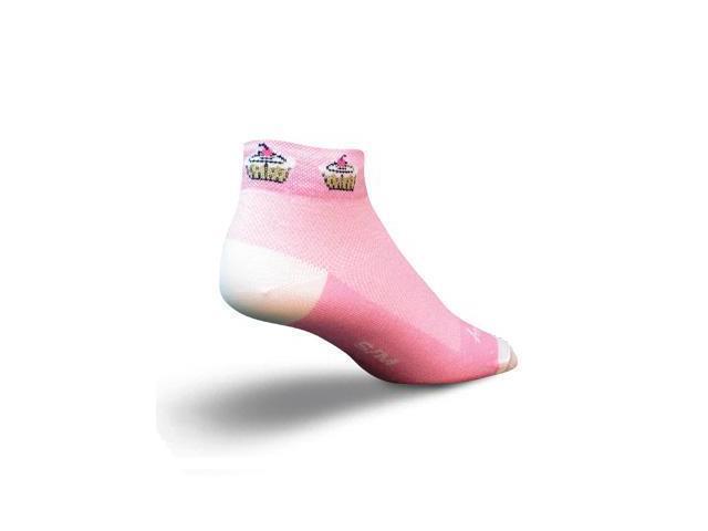 SockGuy Women's 1in Cupcakes Cycling/Running Socks  (S/M)