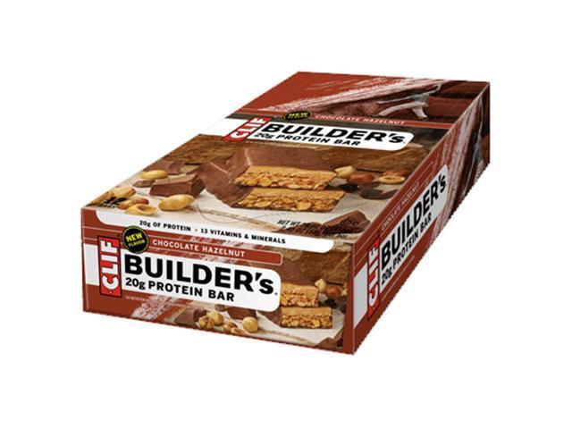 Clif Bar Builder's Protein Bar - Box of 12 (Chocolate Hazelnut)