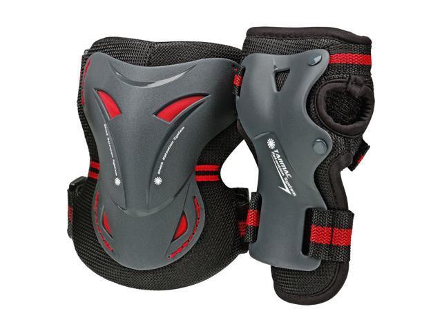 BoneShieldz Tarmac 360 Combo Pack Protective Pads - Black - 5148 (Medium)