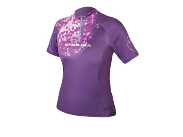 Endura 2016 Women's Singletrack II Short Sleeve Cycling T Shirt - E6087 (Purple - XS)