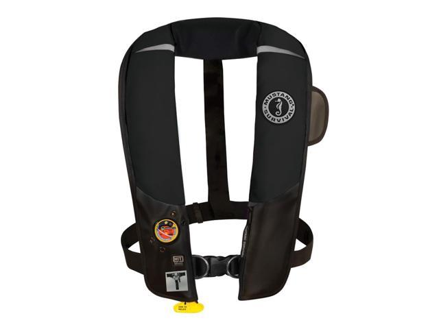 Mustang Hit Inflatable Pfd Automatic W/Harness Black