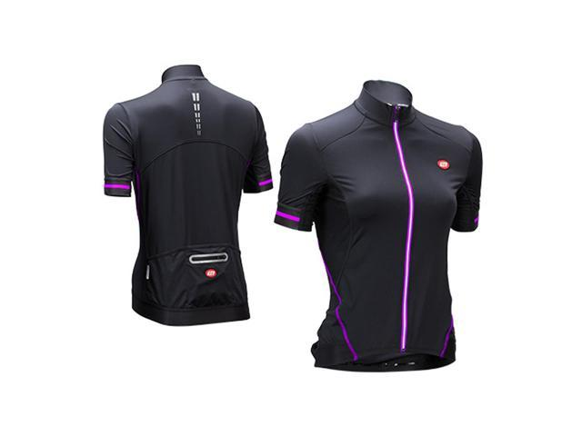Bellwether 2016 Women's Optime Short Sleeve Cycling Jersey - 95178 (Black/Fuchsia - XS)