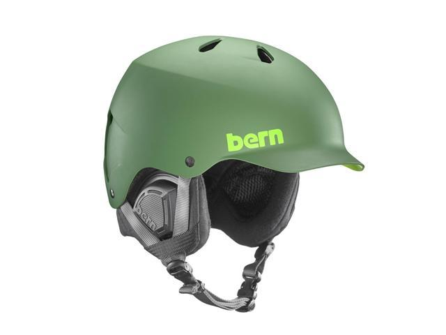 Bern 2016/17 Watts EPS Winter Snow Helmet - w/Liner (Matte Leaf Green w/ Black Liner - XXL/XXXL)