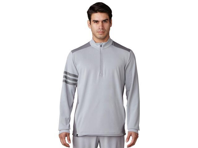 Adidas Golf 2017 Men's Competition 1/4 Zip Long Sleeve Top (Mid Grey/Vista Grey - S)