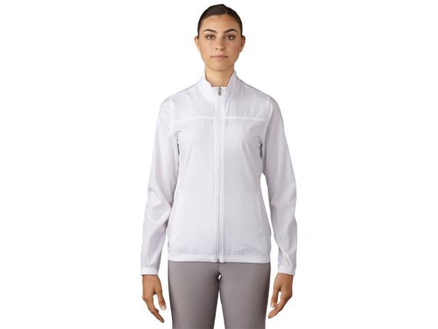 Adidas Golf 2017 Women's Essentials Full Zip Wind Jacket (White - L)