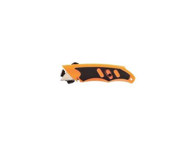 Utility Knife, Folding, 5-3/4 In, Org/Grey