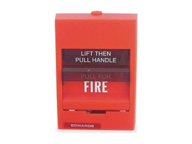 Fire Alarm Pull Station, Red, H 5 3/16 In