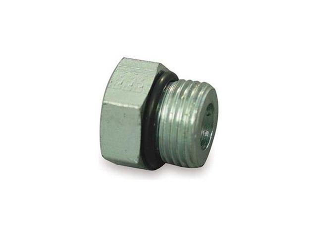 Hose Adapter, Male ORB, Plug, 9/16-18, Steel