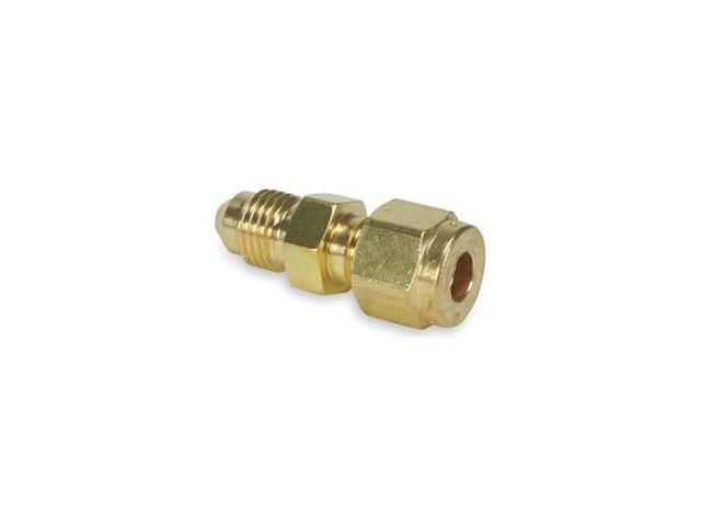 Flare Connector, 37 Degree, 1/4 In, Brass
