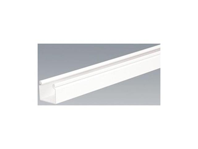 Wire Duct, Hinging Cover, White, L 6 Ft