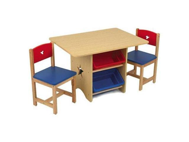 KidKraft Toddler Star Wood Table and Chairs Set Newegg