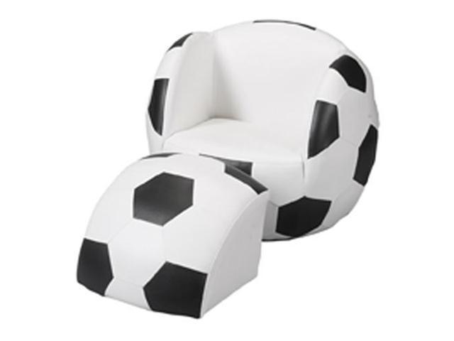 Upholstered Sports Chair with Ottoman