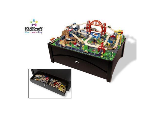 KidKraft Metropolis Train Set on Table