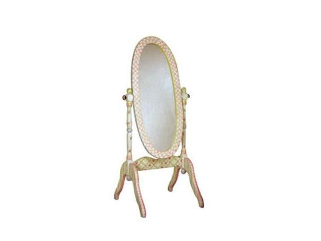 Teamson Kids Girl's Standing Mirror - Crackle Finish