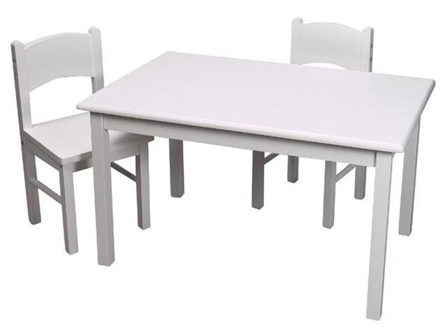 GiftMark Rectangular Table Set With Straight Legs