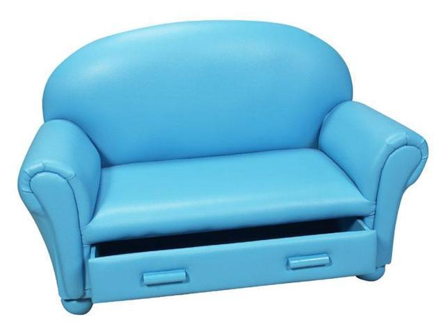 GiftMark Upholstered Couch w/ Drawer