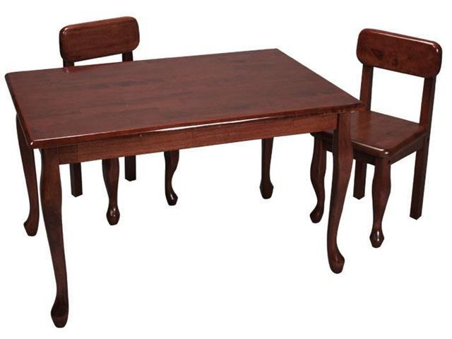 GiftMark Rectangle Queen Anne Table and Chair Set