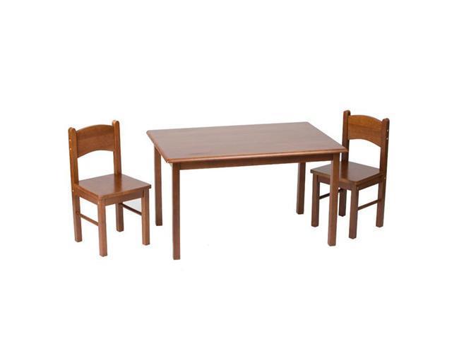 GiftMark Rectangular Table Set With Straight Legs