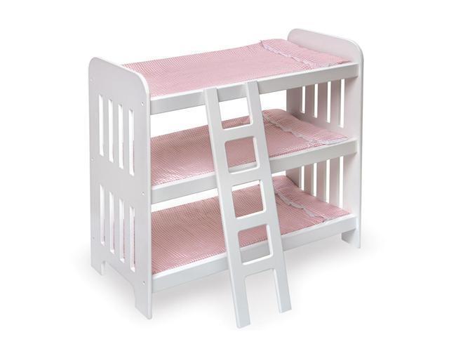 Badger Basket Triple Doll Bunk Bed with Ladder
