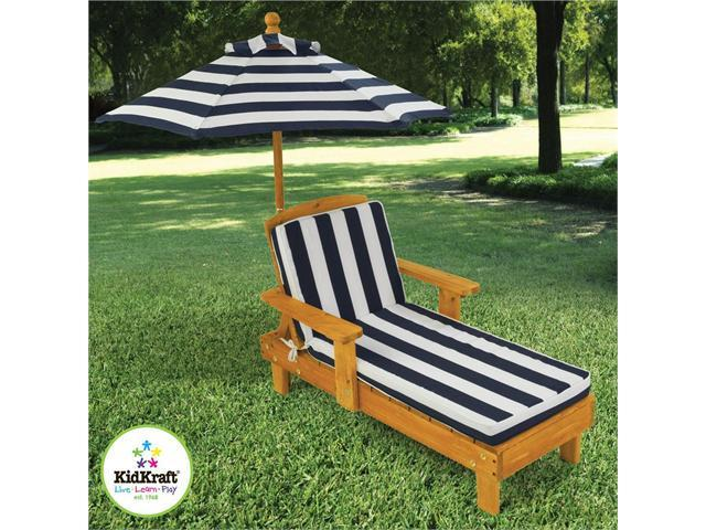 KidKraft Outdoor Wooden Chaise w/ Umbrella