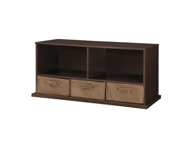 Shelf Storage Cubby with Three Baskets