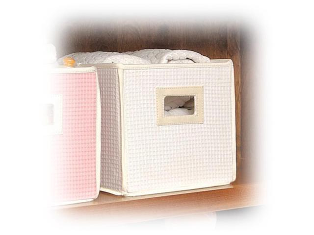 Badger Basket Sage Gingham Portable Bassinet n Cradle w/ Toybox Base