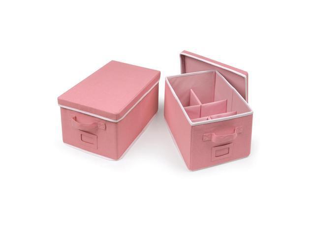 Badger Basket Medium Folding Storage Baskets with Adjustable Dividers - Set of 2